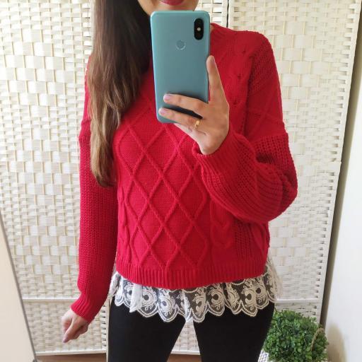 Jersey Rojo Puntilla [0]