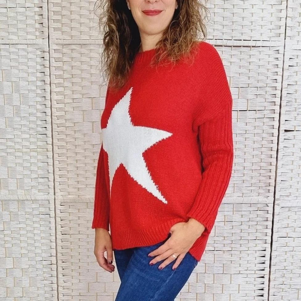 Maxi Jersey Rojo Star