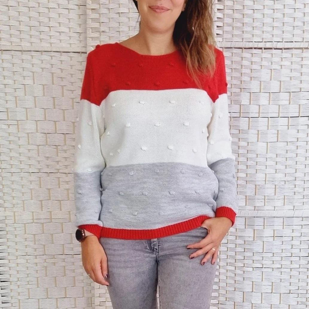 Jersey Tricolor Rojo Relieve