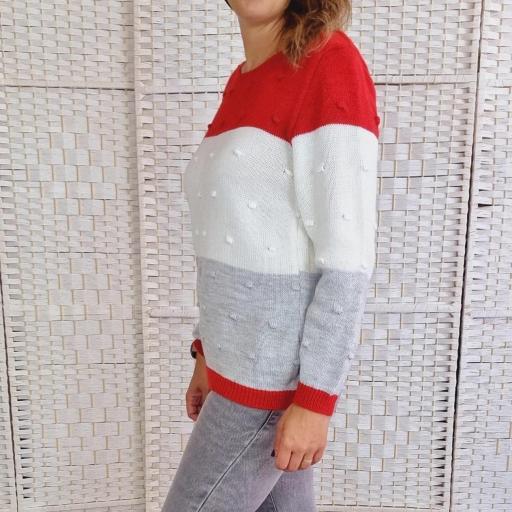 Jersey Tricolor Rojo Relieve [2]