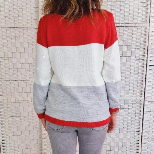 Jersey Tricolor Rojo Relieve [3]