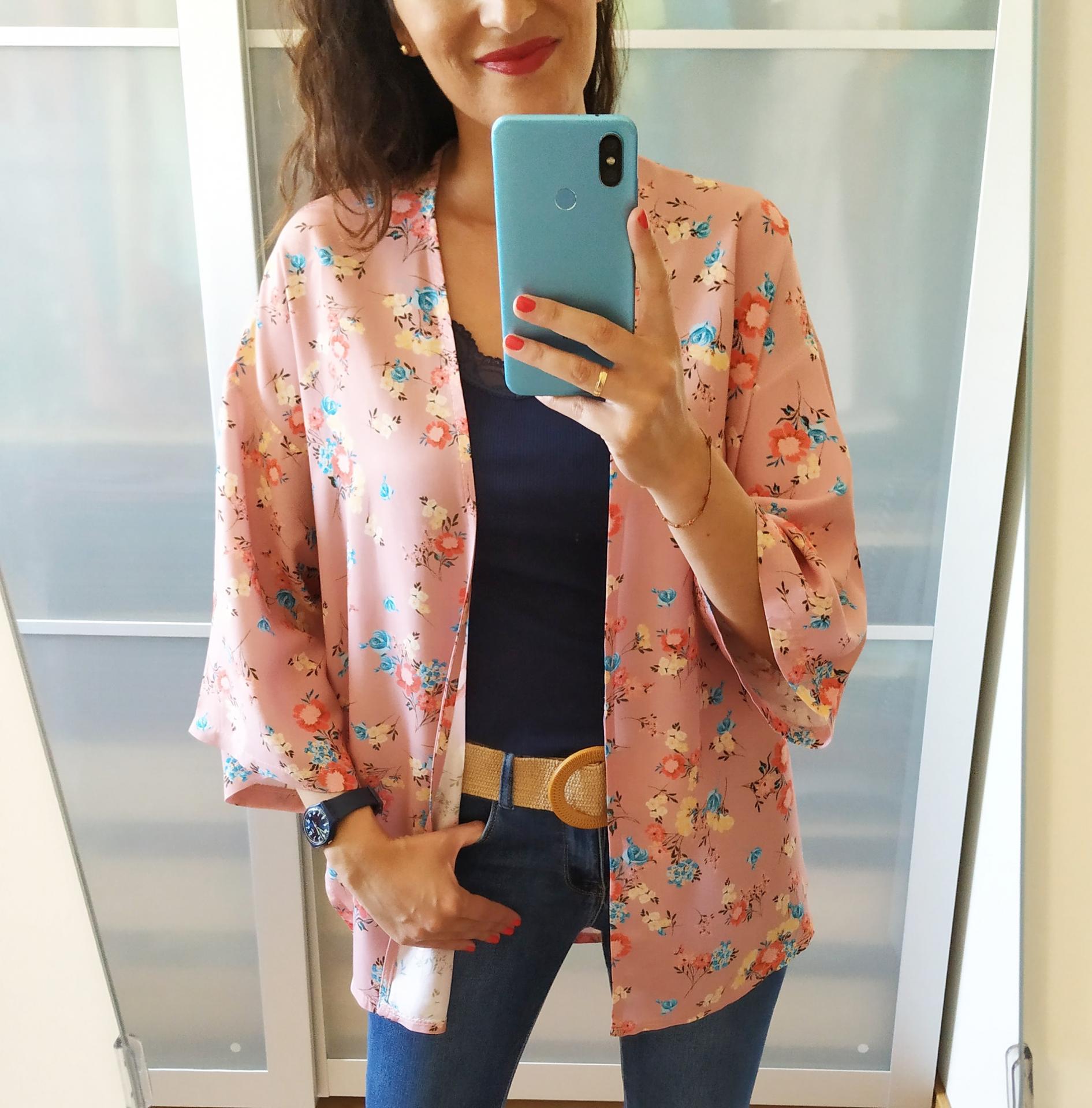 Kimono  Rosa Flores