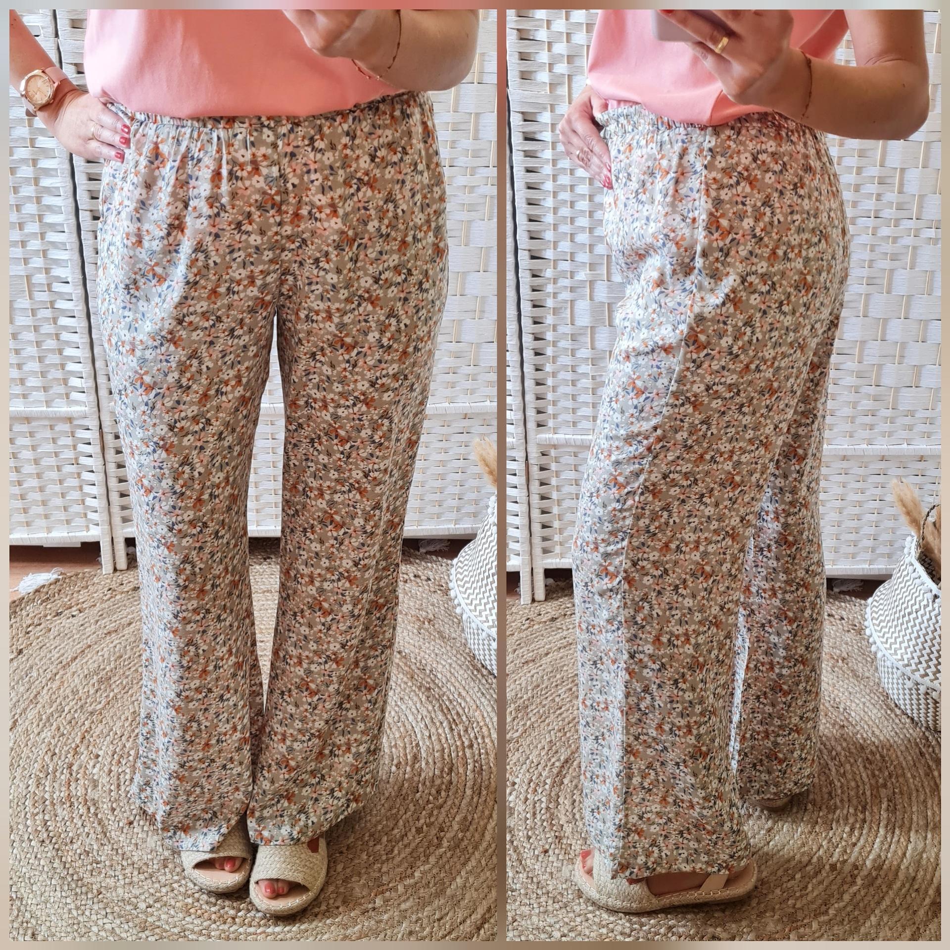 Pantalones Fluidos Flores