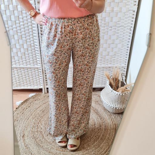 Pantalones Fluidos Flores [1]