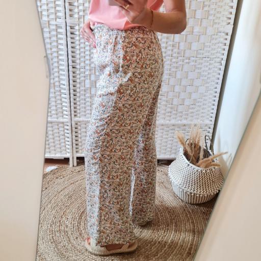 Pantalones Fluidos Flores [2]