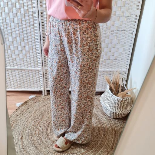 Pantalones Fluidos Flores [3]
