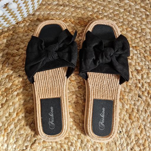 Sandalias Lazo Negras [3]