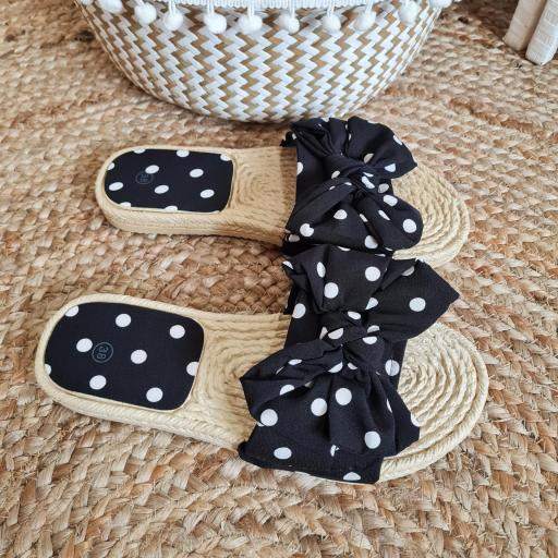 Sandalias Negras Topos [2]