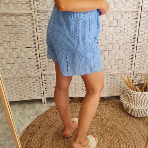 Short Azul Troquelado [3]
