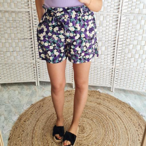 Short Flores Malva [3]