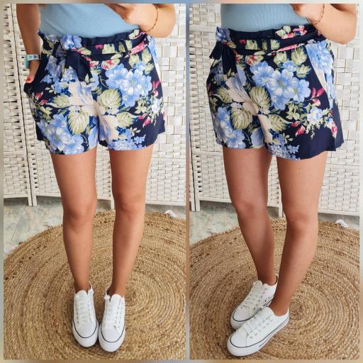 Short Flores Marino