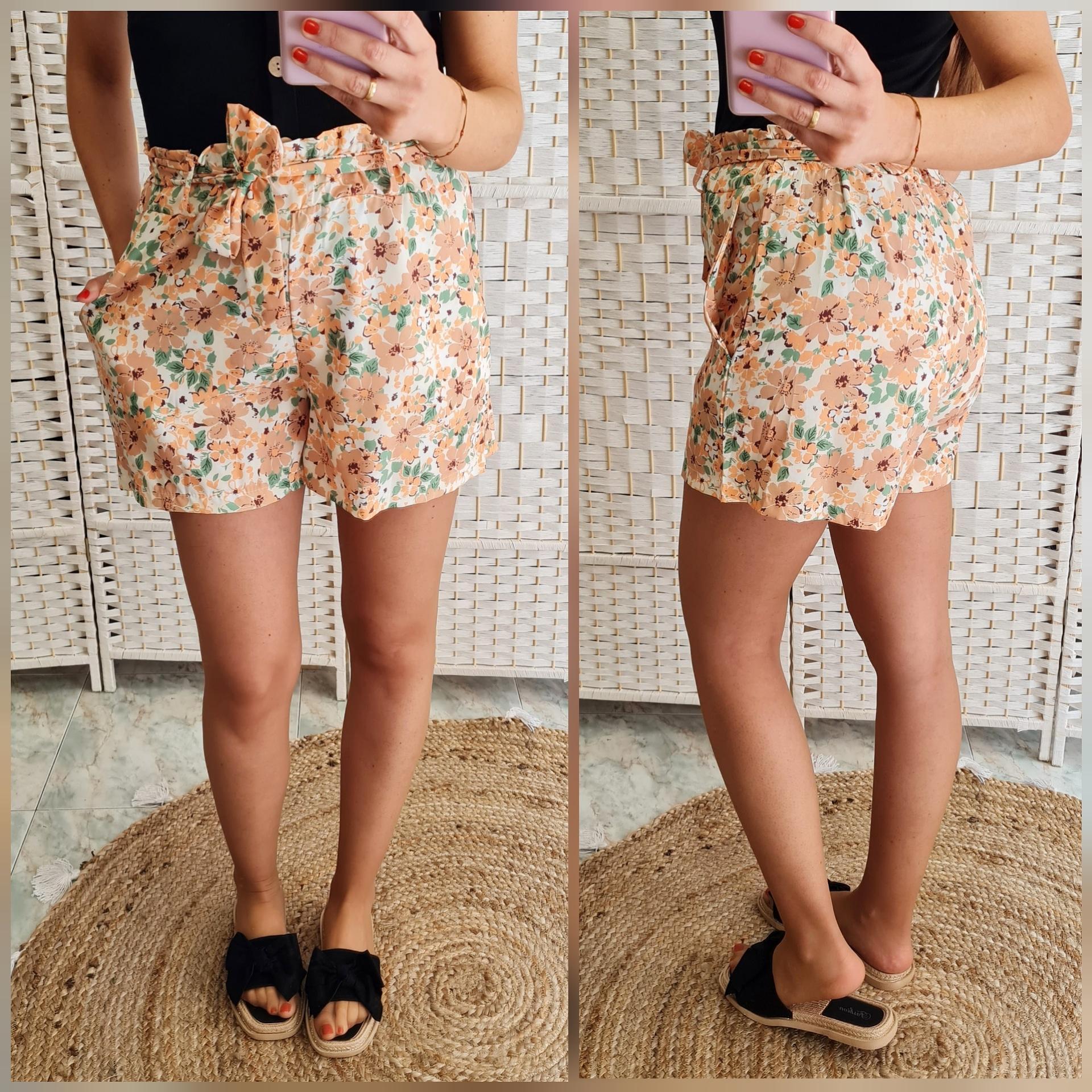Short Flores Naranja