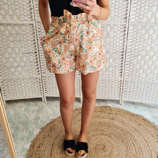 Short Flores Naranja [1]