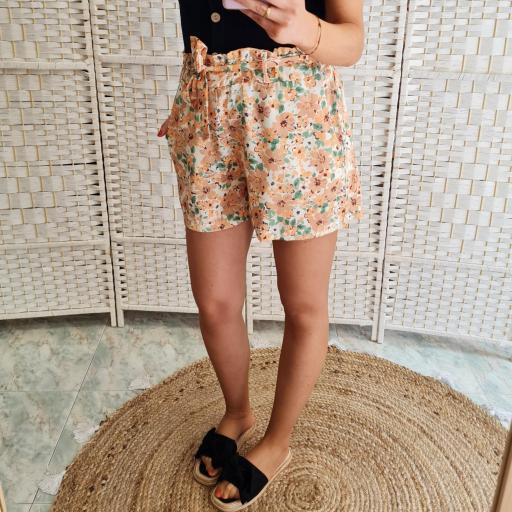 Short Flores Naranja [3]