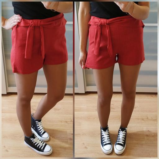 Short Rojo Lazo