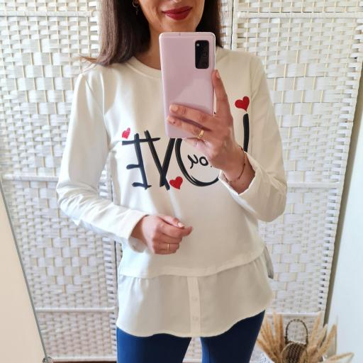 Sudadera Love Blanca [3]