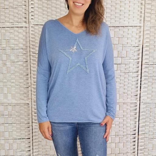 Suéter Azul Star [1]