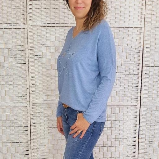 Suéter Azul Star [2]
