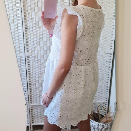 Vestido Blanco Perforado [2]