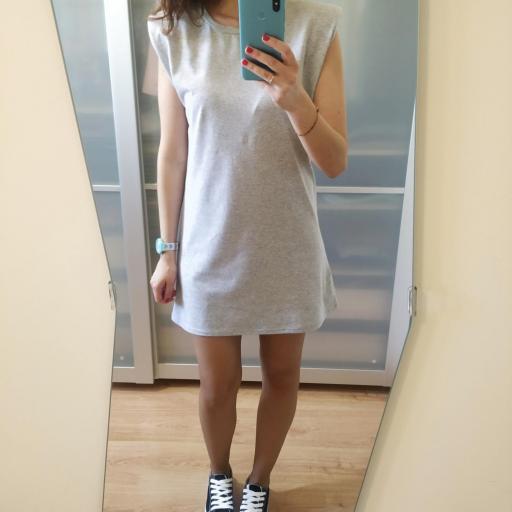 Vestido Hombreras Gris [3]