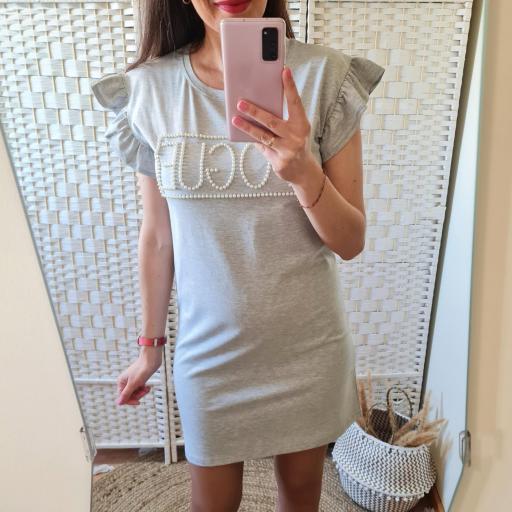 Vestido Perlas Gris [2]