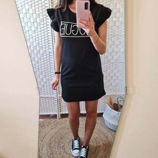 Vestido Perlas Negro [2]