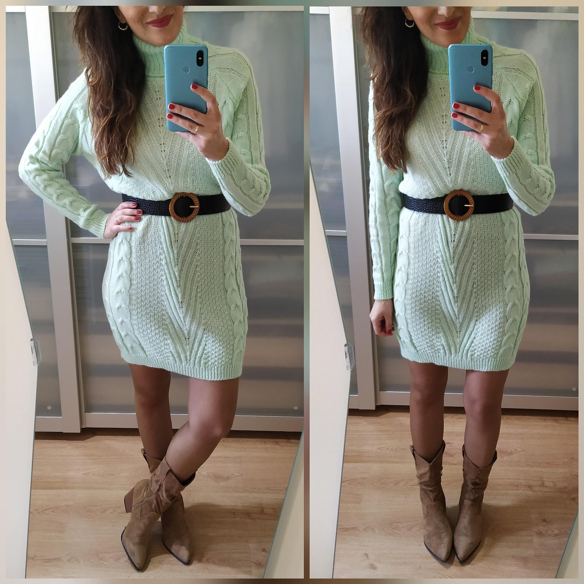 Vestido Punto Mint