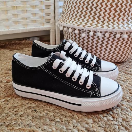 Zapatillas Negras Doble Suela