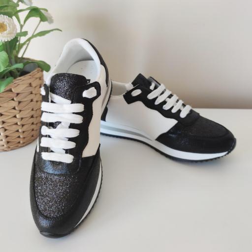 Zapatillas Negras Glitter [1]