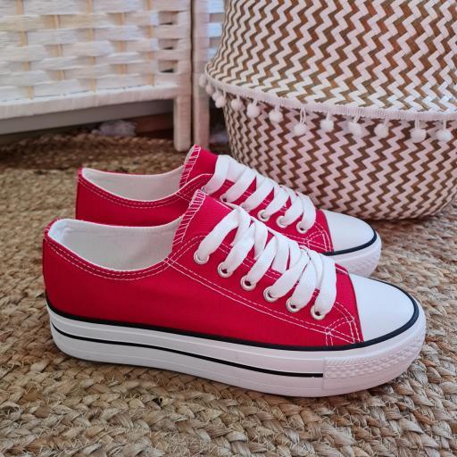 Zapatillas Rojas Doble Suela