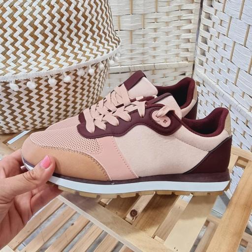 Zapatillas Rosas Combinadas