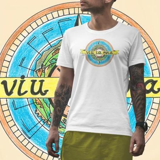 Camiseta Viu La Mola-10 MAPA B/V/ASH M