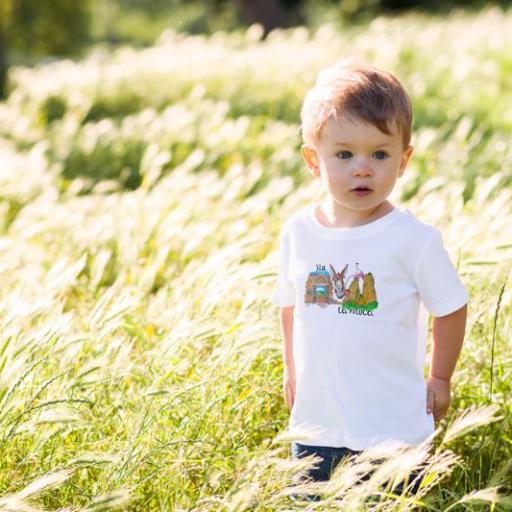 Camiseta Nen/Nena  Porrro 2 Blanca/Groc/Roja