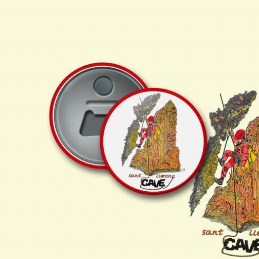 Chapa ABREBOTELLAS magnético de Ø 59 mm. 22 CAVE