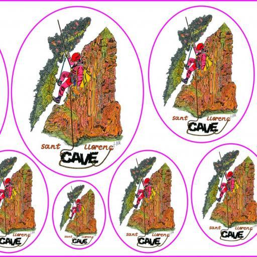 Adhesivos (11 unidades) Cave 22