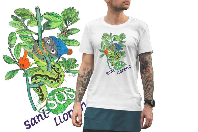 Camiseta Viu La Mola-24 ORUGA B/Burdeos/SKY Blue