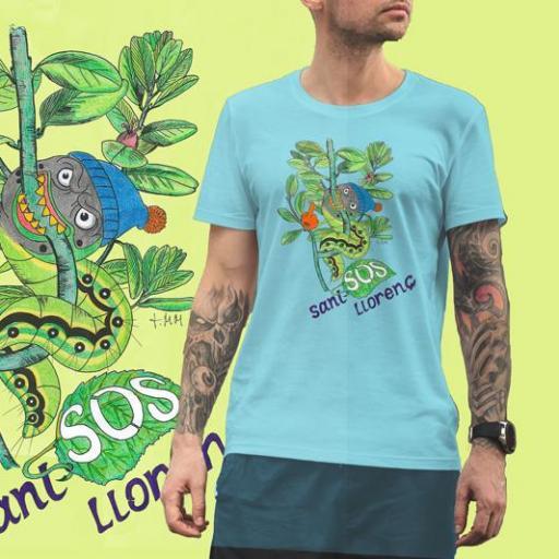 Camiseta Viu La Mola-24 ORUGA B/Burdeos/SKY Blue [2]