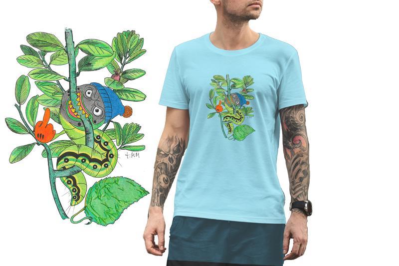 Camiseta Viu La Mola-25 ORUGA SOLA  B/Burdeos/SKY Blue