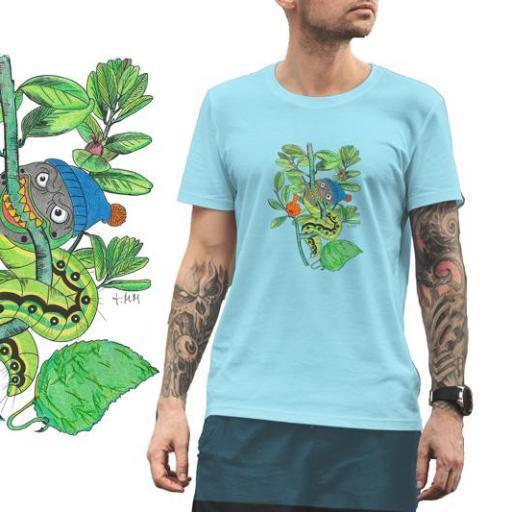 Camiseta Viu La Mola-25 ORUGA SOLA  B/Burdeos/SKY Blue [0]