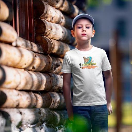 Ruc 4 Camiseta Nen/Nena Blanca/Verda/Burdeos