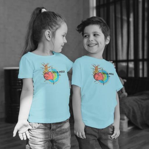 Cor 5 Camiseta Nen/Nena Blanca/Vermell/Blau