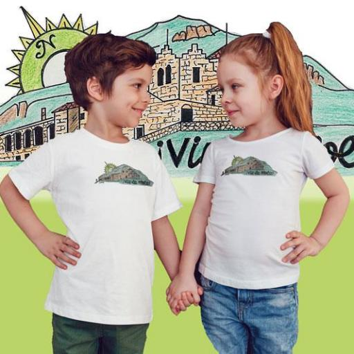 Casa 6 Camiseta Nen/Nena Blanca/Vermell/Verd