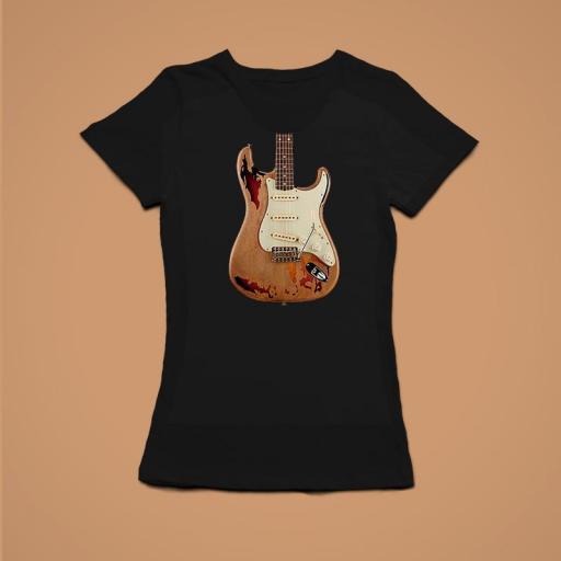 Guitarra Mujer Negra