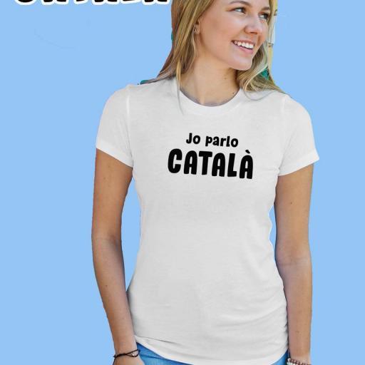 Jo parlo Català Samarreta Dona B/N/G