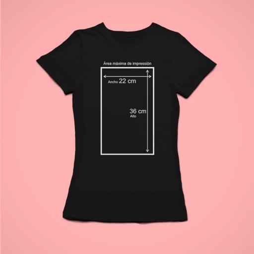 Camiseta NEGRA Personalizada Mujer