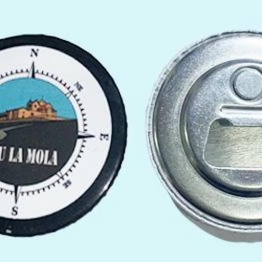 Chapa ABREBOTELLAS magnético de Ø 59 mm.  Rosa dels Vents 11 N/B