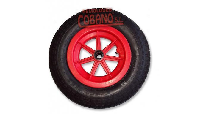 RUEDA CARRETILLA PVC 3,50 X 8