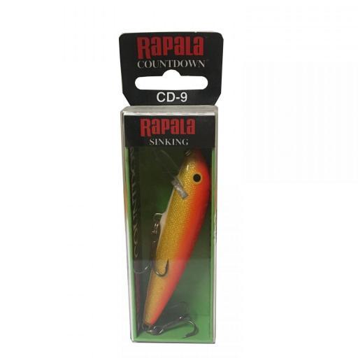Rapala Countdown Sinking CD09 GFR Gold FI Red [1]