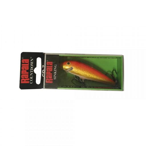 Rapala Countdown Sinking CD07 GFR gold Fi Red