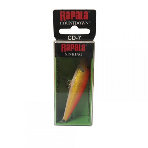 Rapala Countdown Sinking CD07 GFR gold Fi Red [1]